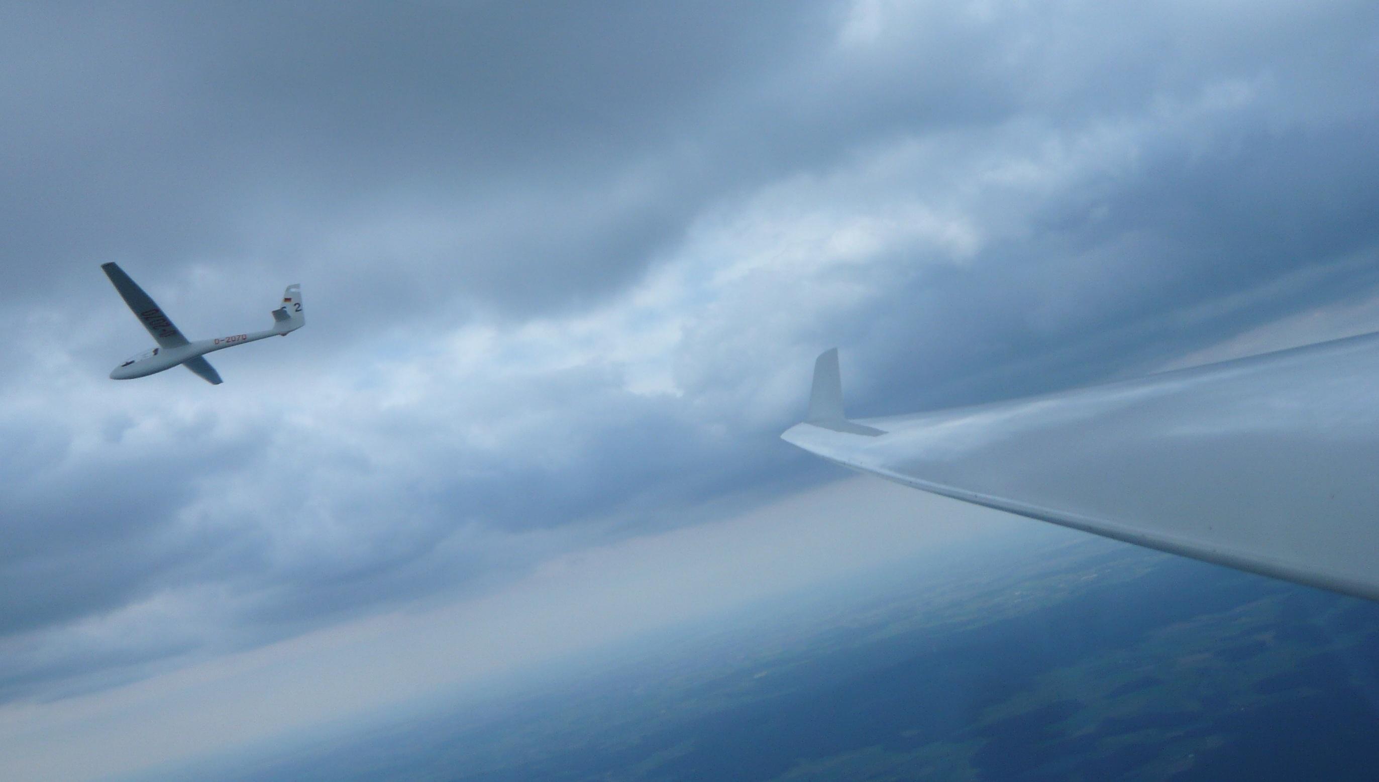 Teamflug mit Bernd in der ASW15