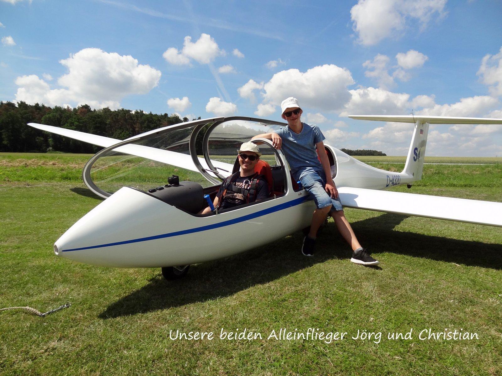 unsere Freiflieger Joerg und Christian