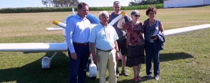 93-jähriger Robert Hébras – Ehrenbürger Europas – zu Gast beim Aero Club Fürth