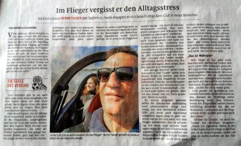 Pressebericht in den Fürther Nachrichten von Andreas Goldmann am 12.04.2021